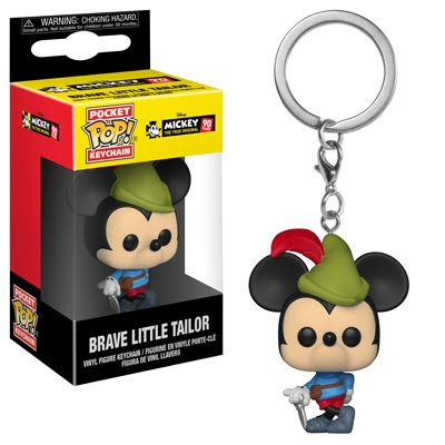 Pocket POP! Keychain : Mickey 90th - Brave Little Tailor