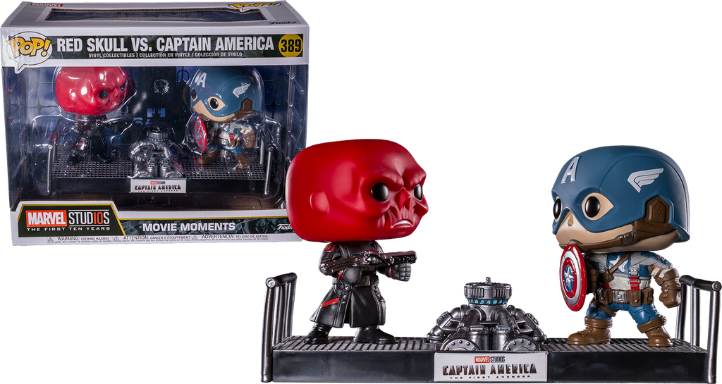 Pop! Movies: Marvel Movie Moments - Captain America vs Red Skull - Sheldonet Toy Store