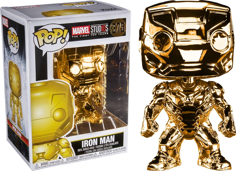 Pop! Marvel - Marvel Studio The First 10 Years - Iron Man (Gold Chrome) - Sheldonet Toy Store