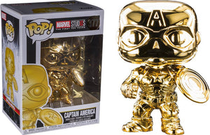 Pop! Marvel - Marvel Studio The First 10 Years - Captain America (Gold Chrome) - Sheldonet Toy Store