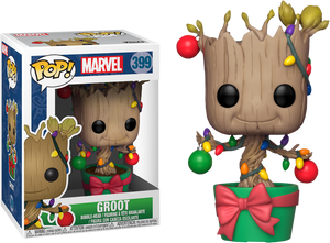 POP! Marvel: Holiday - Groot w- Lights & Ornaments - Sheldonet Toy Store