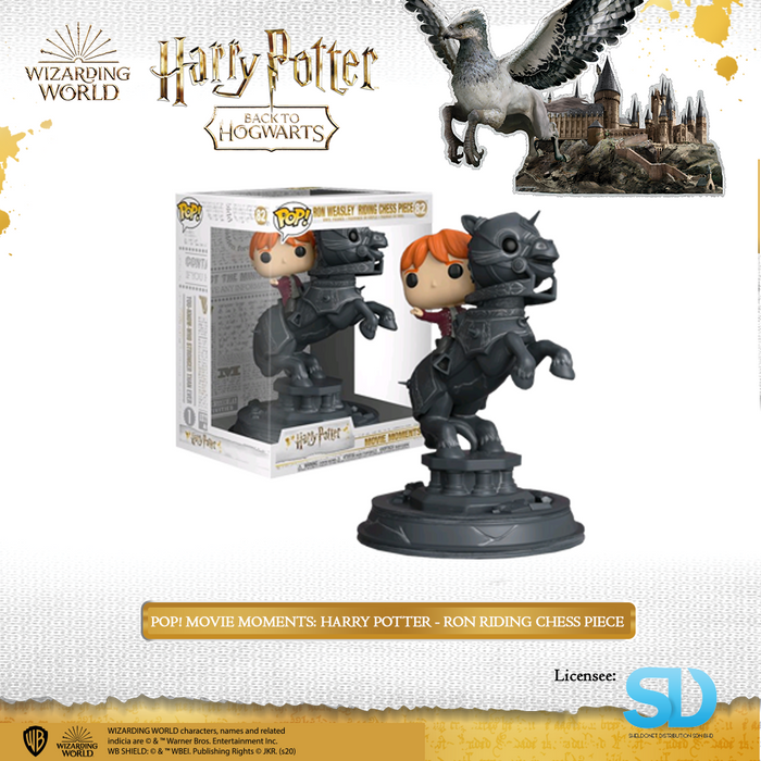 POP! Movie Moments: Harry Potter - Ron Riding Chess Piece