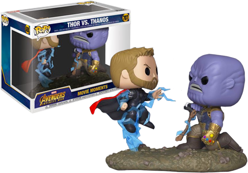 Pop! Movies: Marvel Movie Moments - Thor vs Thanos - Sheldonet Toy Store