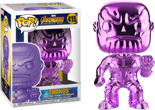 POP! Marvel Avengers Infinity War - Thanos (Purple Chrome) [Exclusive] - Sheldonet Toy Store