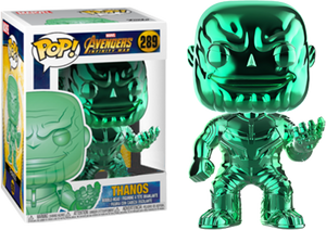 Funko Pop! Marvel Avengers Infinity War - Thanos (Green Chrome) [Exclusive] - Sheldonet Toy Store