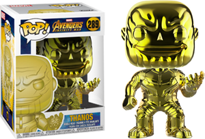 POP! Marvel Avengers Infinity War - Thanos (Yellow Chrome) [Exclusive] - Sheldonet Toy Store