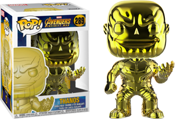 POP! Marvel Avengers Infinity War - Thanos (Yellow Chrome) [Exclusive]