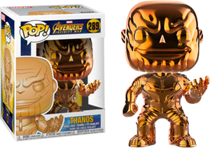POP! Marvel Avengers Infinity War - Thanos (Orange Chrome) [Exclusive] - Sheldonet Toy Store