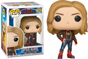 Pop! Marvel: Captain Marvel (2019) - Captain Marvel in Brown Jacket [Exclusive] - Sheldonet Toy Store