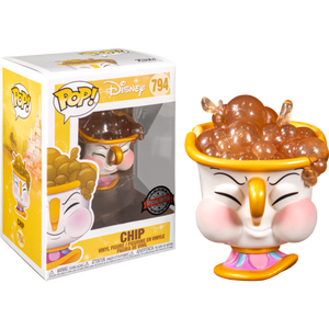 Pop! Disney: Beauty & The Beast - Chip with Bubbles (Exclusive) - Sheldonet Toy Store