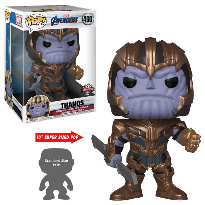 "POP! Marvel: Avengers: End Game - Thanos 10"" Inch  [Exclusive]"