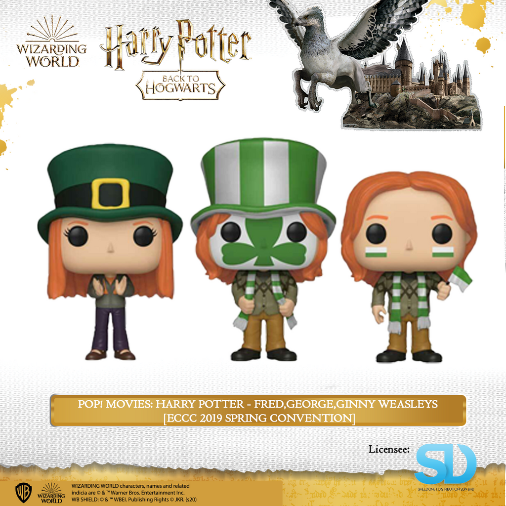 POP! Movies: Harry Potter - Fred,George,Ginny Weasleys (3-Pack) [ECCC 2019 Spring Convention] - Sheldonet Toy Store