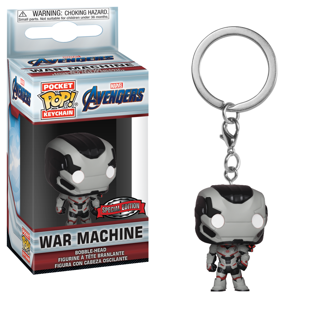 Pocket POP! Keychain : Marvel - Avengers: End Game - War Machine [Exclusive] - Sheldonet Toy Store