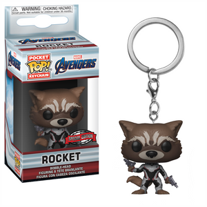 Pocket POP! Keychain : Marvel - Avengers: End Game - Rocket [Exclusive] - Sheldonet Toy Store