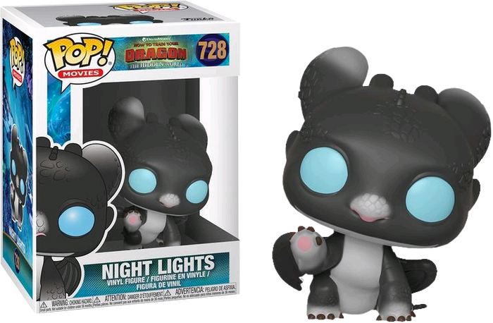 POP! Movies: How To Train Your Dragon 3 - Night Lights (Black & Blue)