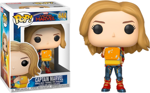 Pop! Marvel: Captain Marvel - Captain Marvel with Lunch Box - Sheldonet Toy Store