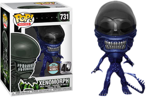 Pop! Movies: Alien 40th - Xenomorph (Blue Metallic) [Exclusive] - Sheldonet Toy Store