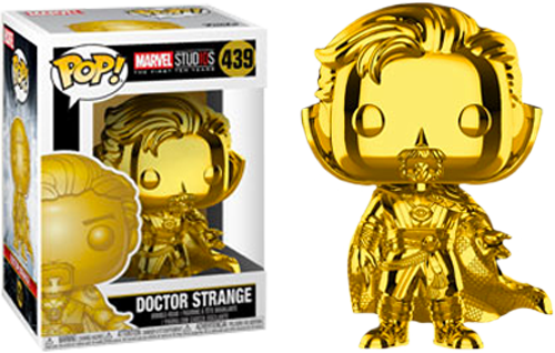 Pop! Marvel - Marvel Studio The First 10 Years - Dr. Strange (Gold Chrome) - Sheldonet Toy Store
