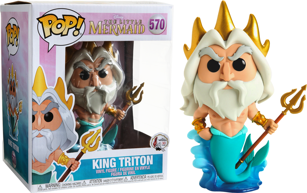 "Pop! Disney: The Little Mermaid - King Triton 6"" Inch (Exclusive) - Sheldonet Toy Store"