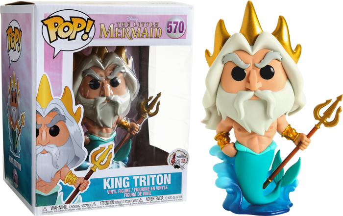 "Pop! Disney: The Little Mermaid - King Triton 6"" Inch (Exclusive)"