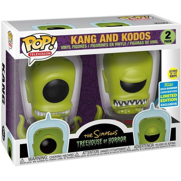 POP! Animation: The Simpsons - Kang and Kodos Glow in The Dark (2-Pack) [SDCC 2019 Summer Convention] - Sheldonet Toy Store