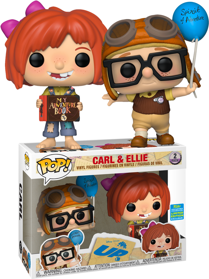 POP! Disney: UP - Young Carl and Ellie (2-pack) [SDCC 2019 Summer Convention]