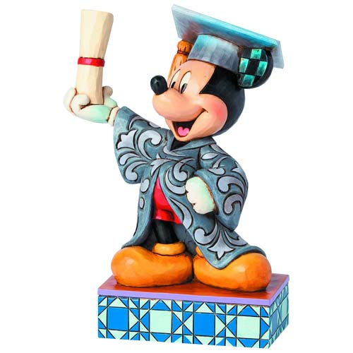"Enesco : Disney Traditions - Graduation Mickey ""You Did It"" Statue - Sheldonet Toy Store"