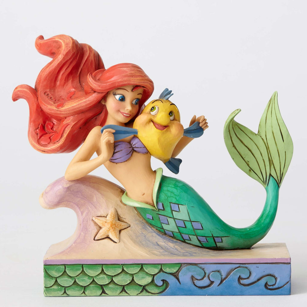 Enesco : Disney Traditions - Ariel With Flounder - Sheldonet Toy Store