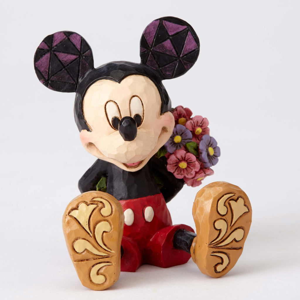 Enesco : Disney Traditions - Mini Mickey with Flower - Sheldonet Toy Store