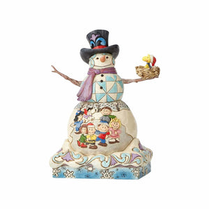 Enesco : Peanuts by Jim Shore - Snowman with Peanuts Gang - Sheldonet Toy Store