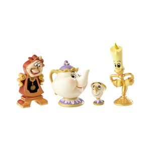 Enesco : Disney Showcase - Enchanted Objects Set (Animated Beauty and The Beast) - Sheldonet Toy Store