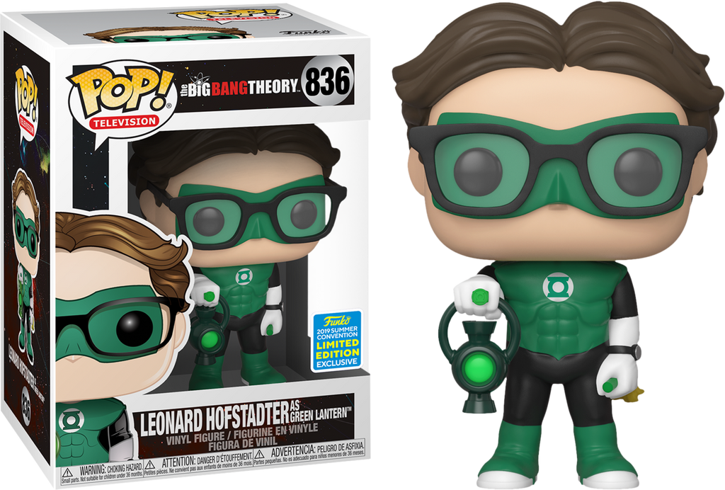 POP! TV: The Big Bang Theory - Leonard as Green Lantern [SDCC 2019 Summer Convention] - Sheldonet Toy Store