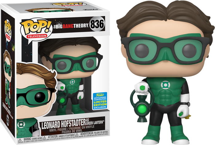POP! TV: The Big Bang Theory - Leonard as Green Lantern [SDCC 2019 Summer Convention]