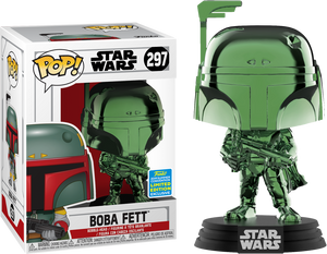 POP! Star Wars - Boba Fett (Green Chrome) [SDCC 2019 Summer Convention] - Sheldonet Toy Store