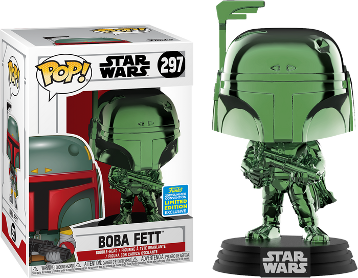 POP! Star Wars - Boba Fett (Green Chrome) [SDCC 2019 Summer Convention]