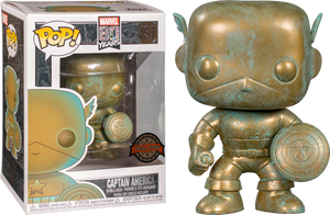 POP! Marvel: Marvel 80th - Captain America (Patina) [Exclusive] - Sheldonet Toy Store