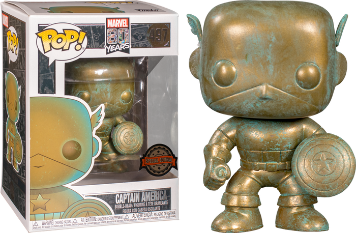 POP! Marvel: Marvel 80th - Captain America (Patina) [Exclusive]