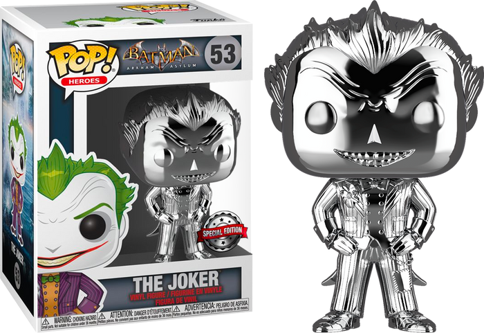 Pop! Heroes: Arkham Asylum - Joker (Silver Chrome) [Exclusive]