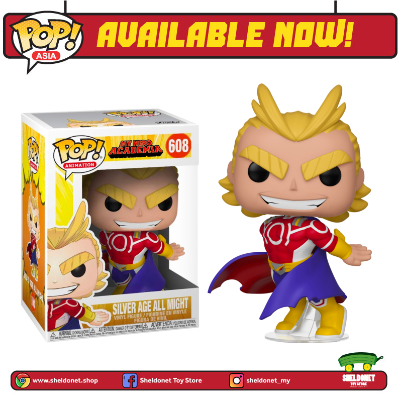 Pop! Animation: My Hero Academia - All Might (Silver Age) - Sheldonet Toy Store