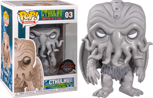 Pop! Books: Horror - Cthulhu (Black and White) [Exclusive] - Sheldonet Toy Store