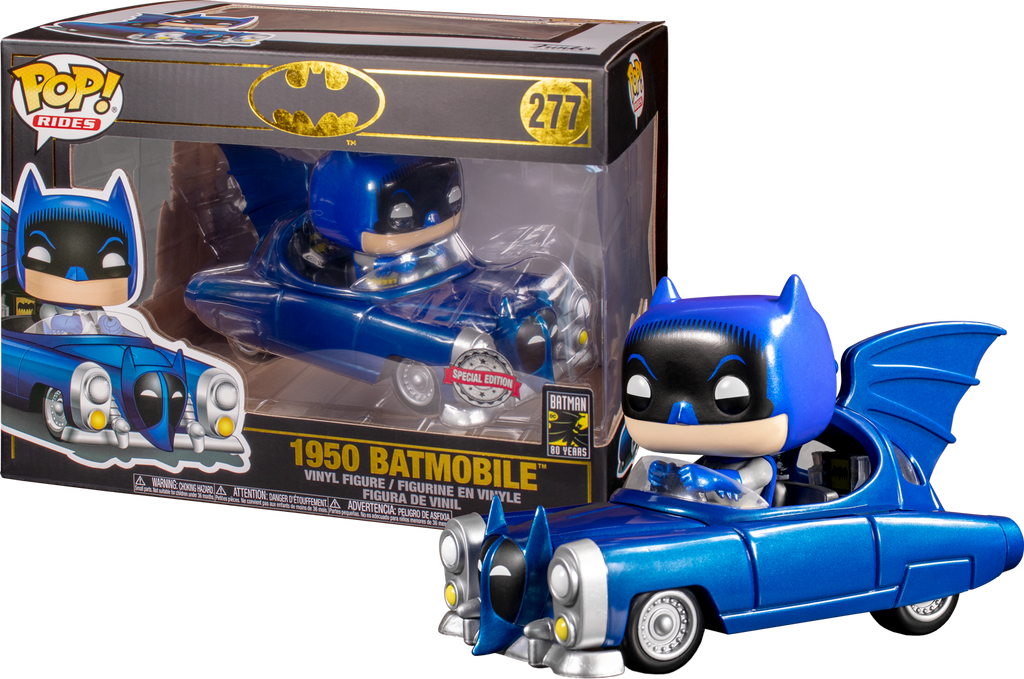 POP! Rides: Batman 80th  - 1950 Batmobile (Metallic) [Exclusive] - Sheldonet Toy Store
