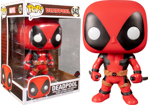 "Pop! Marvel: Deadpool - Deadpool with Swords (Red) 10"" Inch (Exclusive) - Sheldonet Toy Store"