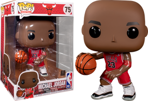 "Pop! NBA: Bulls - Michael Jordan 10"" Inch (Red Jersey) - Sheldonet Toy Store"