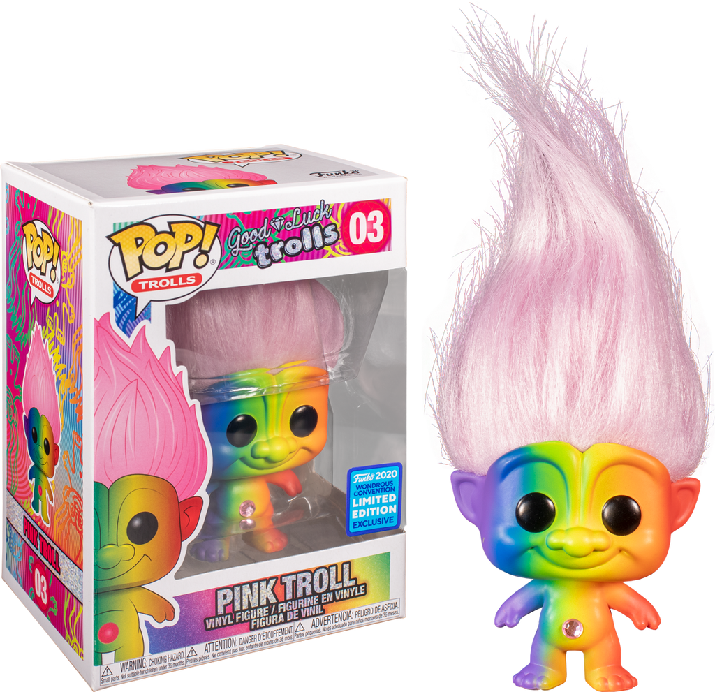 Pop! Trolls: Good Luck Trolls - Pink Troll [Wondrous Convention Exclusive 2020] - Sheldonet Toy Store