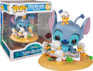 Pop! Deluxe: Lilo & Stitch - Stitch with Book & Ducks  [Exclusive] - Sheldonet Toy Store