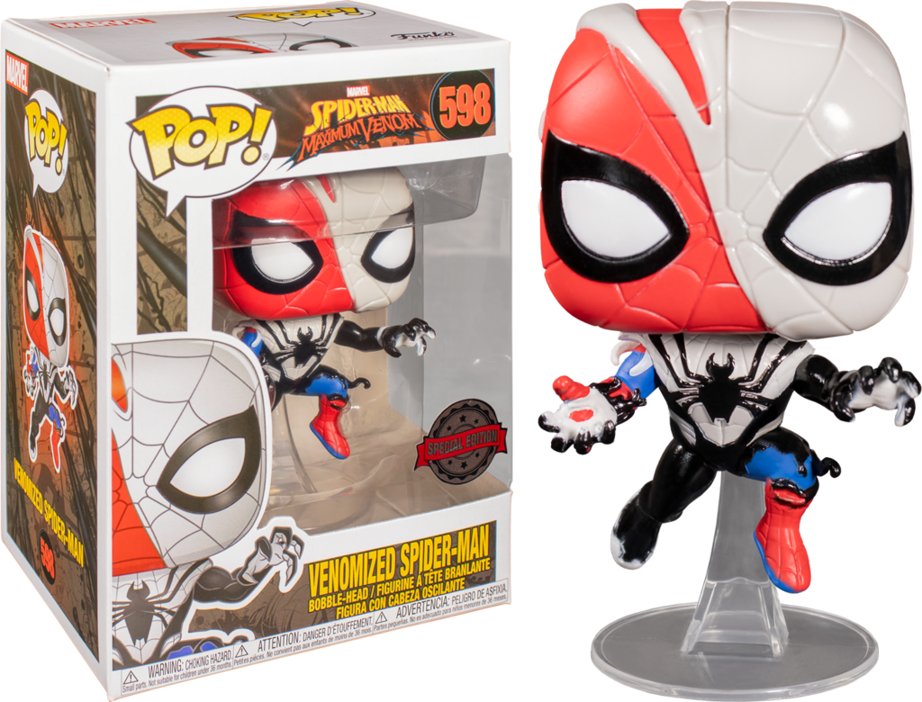 Funko Pop! Marvel: Maximum Venom - Venomized Spider-Man (Exclusive) - Sheldonet Toy Store