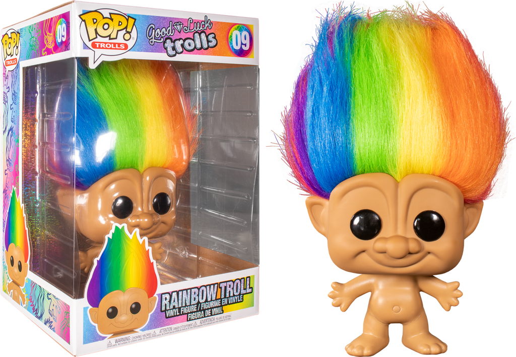 "Pop! Trolls: Trolls Classic-Multicoloured Troll 10"" Inch - Sheldonet Toy Store"
