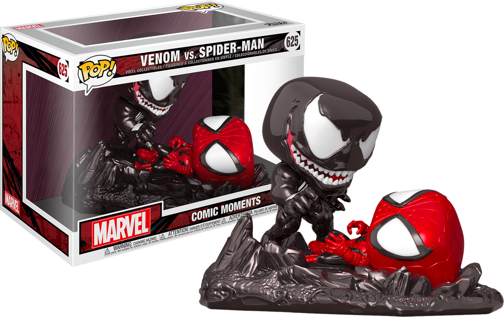 Pop! Marvel: Comic Moments - Spider-Man vs. Venom (Metallic) [Exclusive] - Sheldonet Toy Store