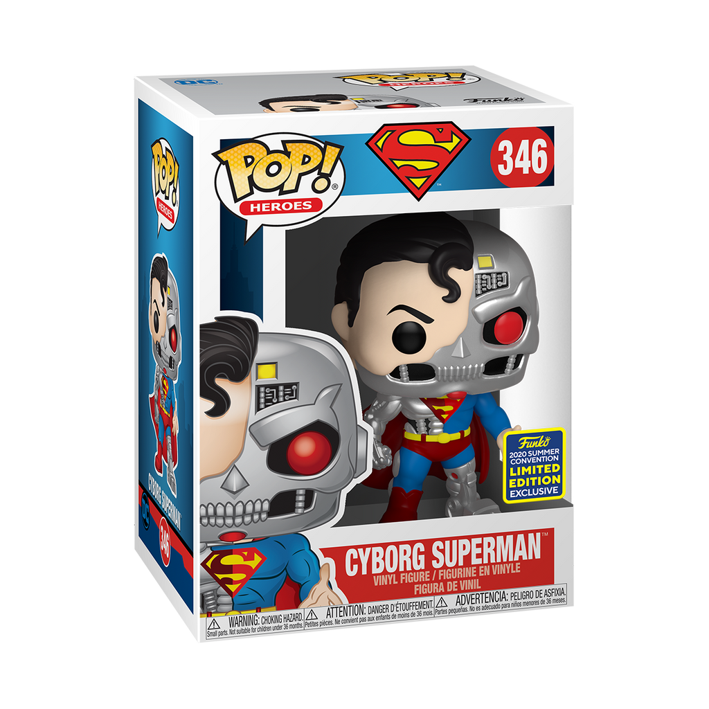 [In-Stock] Pop! Heroes: DC - Cyborg Superman [SDCC Summer Convention 2020] - Sheldonet Toy Store
