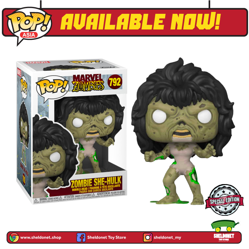 Pop! Marvel : Marvel Zombies - She-Hulk (Exclusive) - Sheldonet Toy Store